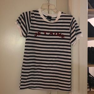 French red wording T-shirt NWT from Nordstrom